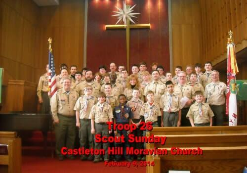 Boy Scout Troop 26 at Castleton Hill